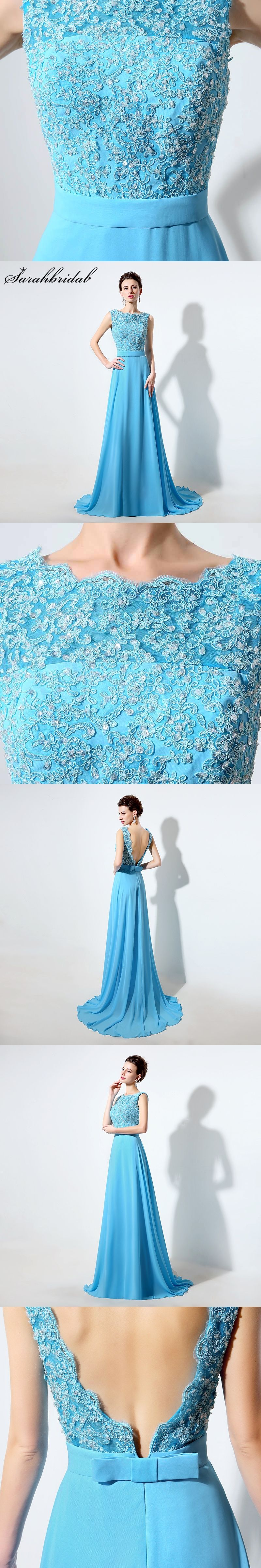 New arrive long chiffon prom dresses sleeveless vback aline