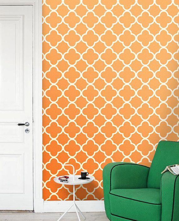 Wall Decor Quatrefoil Vinyl Wall Decal Quatrefoil Wall Decor