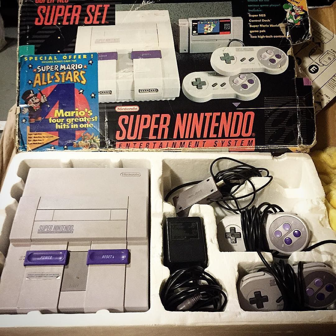 On instagram by i_am_retroman_games #nes #microhobbit (o) http://ift.tt/216k0PF's find snes with two controllers but no meowrio  #snes #supernintendo #nintendo #classicgames #classicgamer
