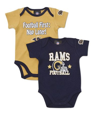 625b7d4f Take a look at this Blue & Gold St. Louis Rams Bodysuit Set - Infant ...