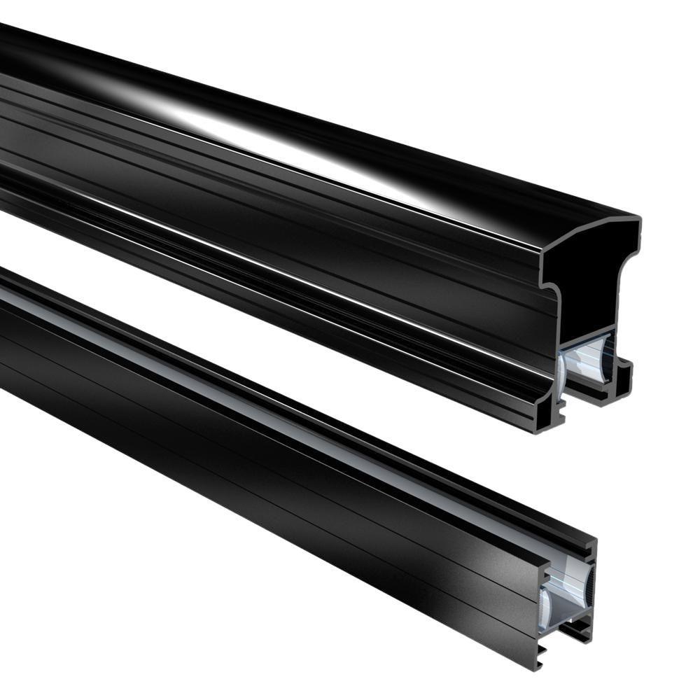 Best Peak Aluminum Railing Black 6 Ft Aluminum Stair Hand And 400 x 300