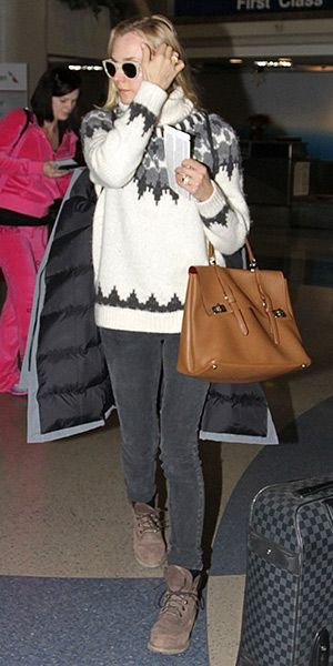 Diane Kruger at LAX Airport (December 30, 2014). She is in an ...