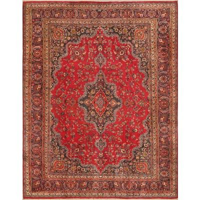 Ecarpetgallery Hand Knotted Mashad Red Rug 9 8 X 12 7 Canada Online At Ca 17850 707605 Er On Than One Carpet Gallery