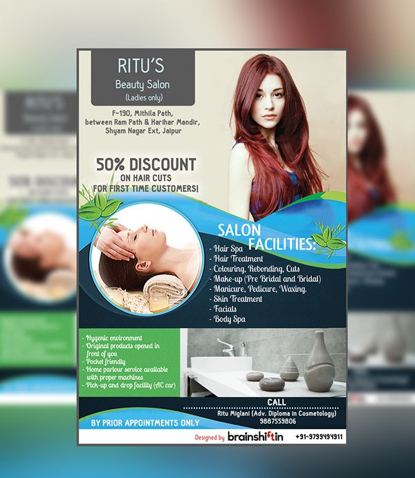 Ritus Beauty Salon Flyer Design On Behance