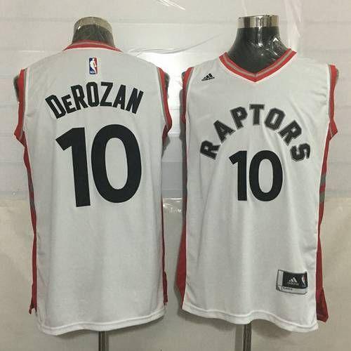 e8f1d267e41 Men s Toronto Raptors  10 DeMar DeRozan White New NBA Rev 30 Swingman Jersey