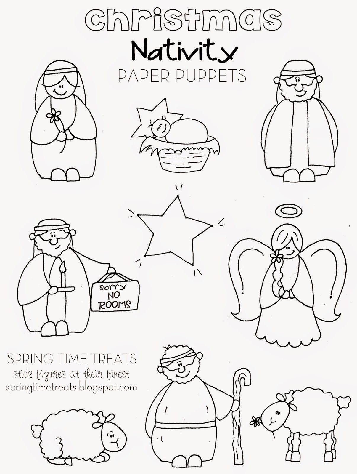 Nativity Paper Puppets