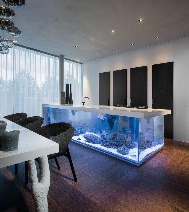 Design Küche mit Aquarium von Robert Kolenik u2026 Pinteresu2026 - küchen luxus design