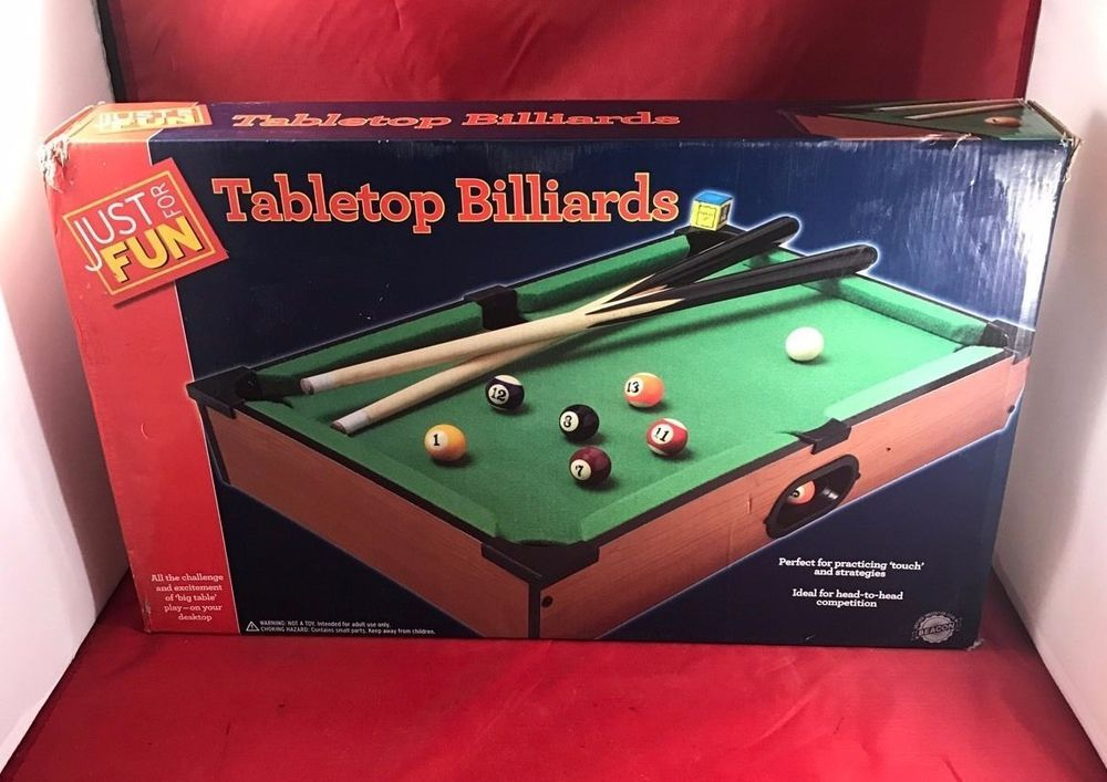 Just For Fun Table Top Billiards Game Table Fun Times For Home House Party  #JustForfun