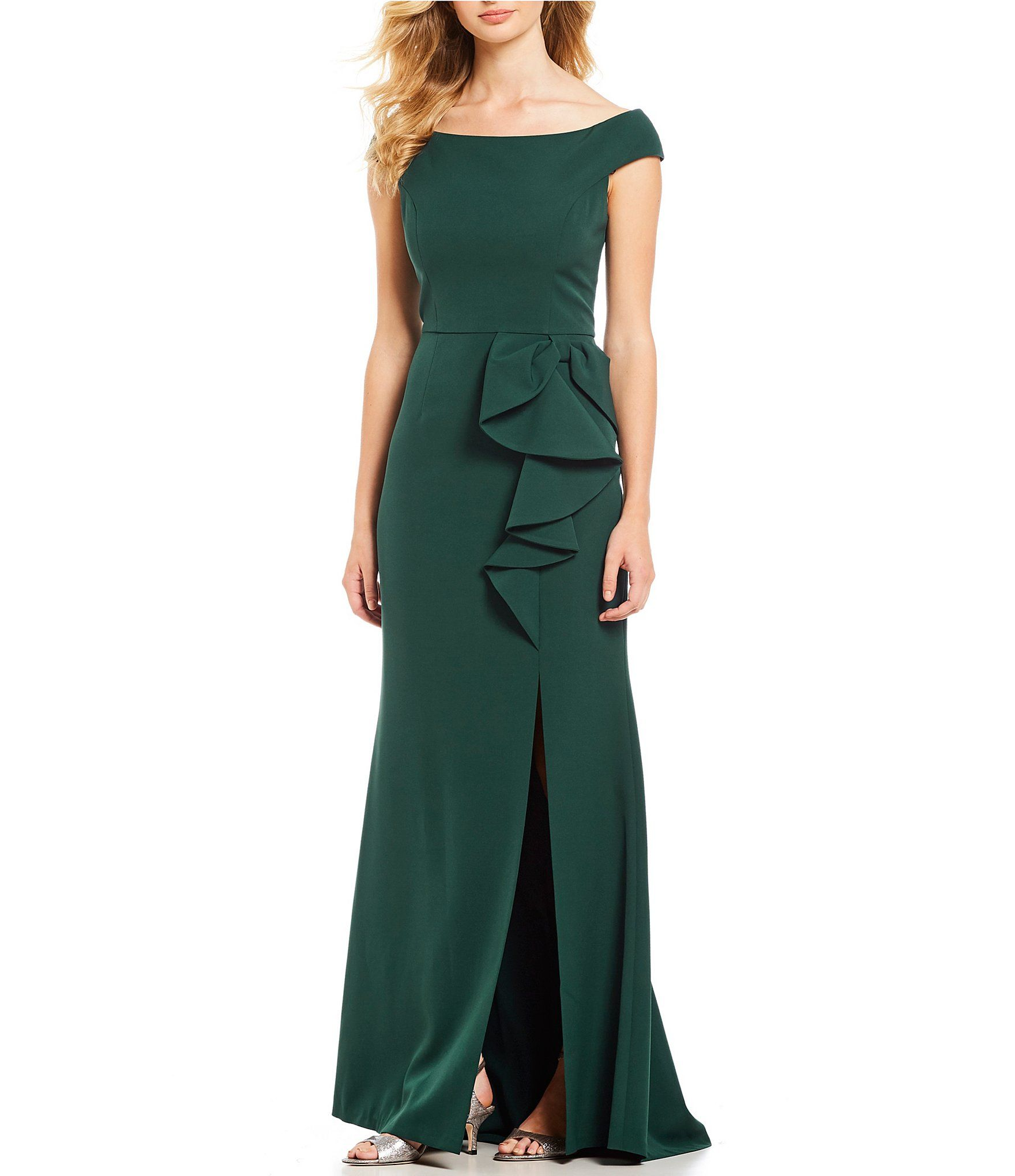 7f6450454f Vince Camuto OffTheShoulder Side Bow Gown  Dillards