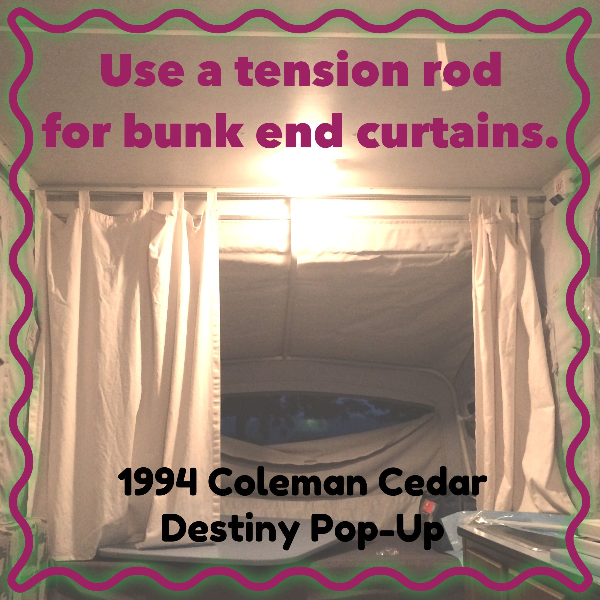 Tension Rod To Replace C Clips In 1994 Coleman Cedar Destiny Pop