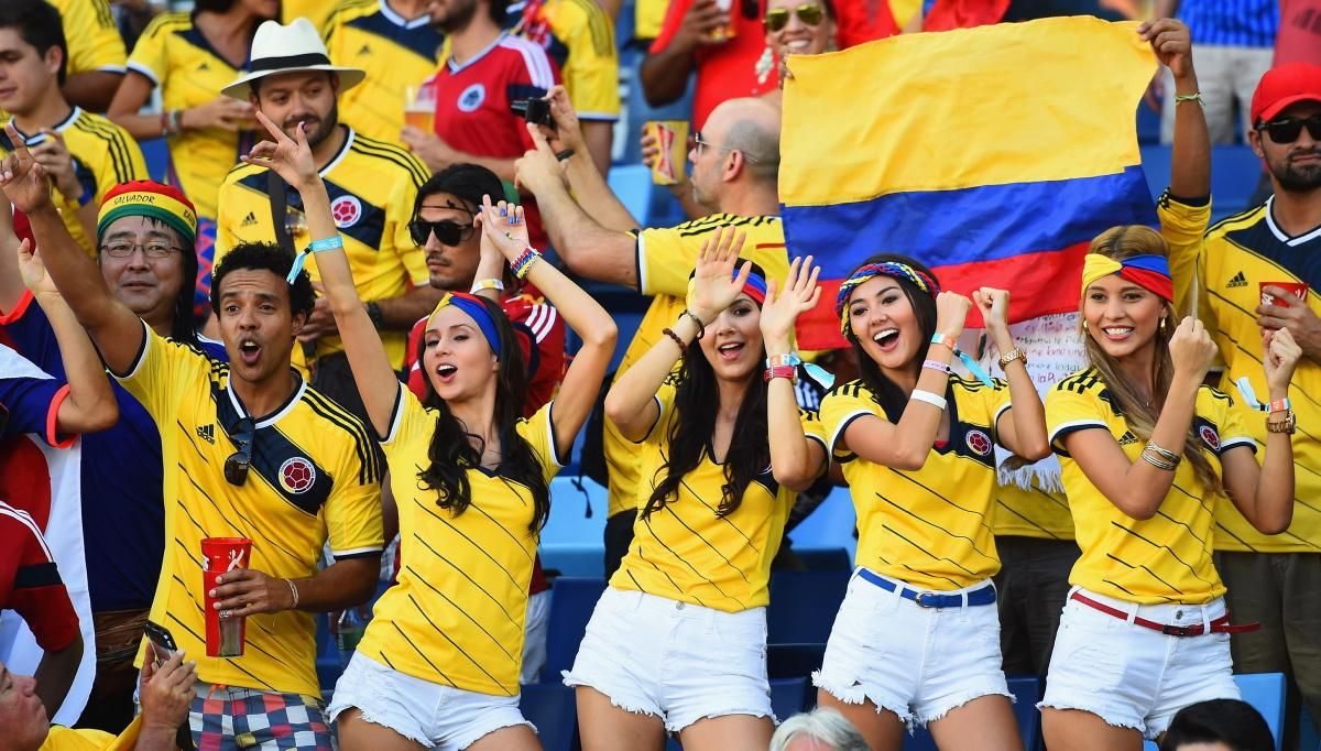 Image result for colombia soccer victory fans