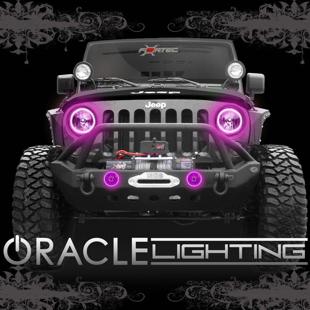 2007 2014 jeep wrangler jk oracle led headlight fog light. Black Bedroom Furniture Sets. Home Design Ideas
