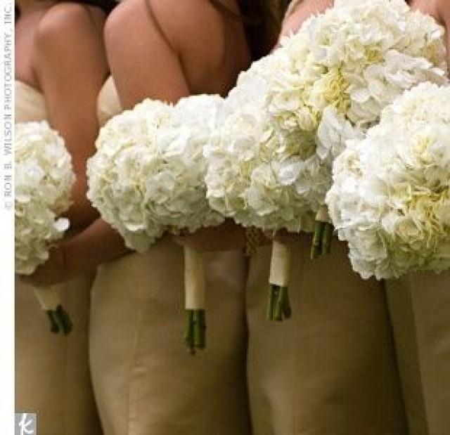 white hydrangea bouquet, white bridesmaid bouquets and white hydrangeas. #bridesmaidbouquets