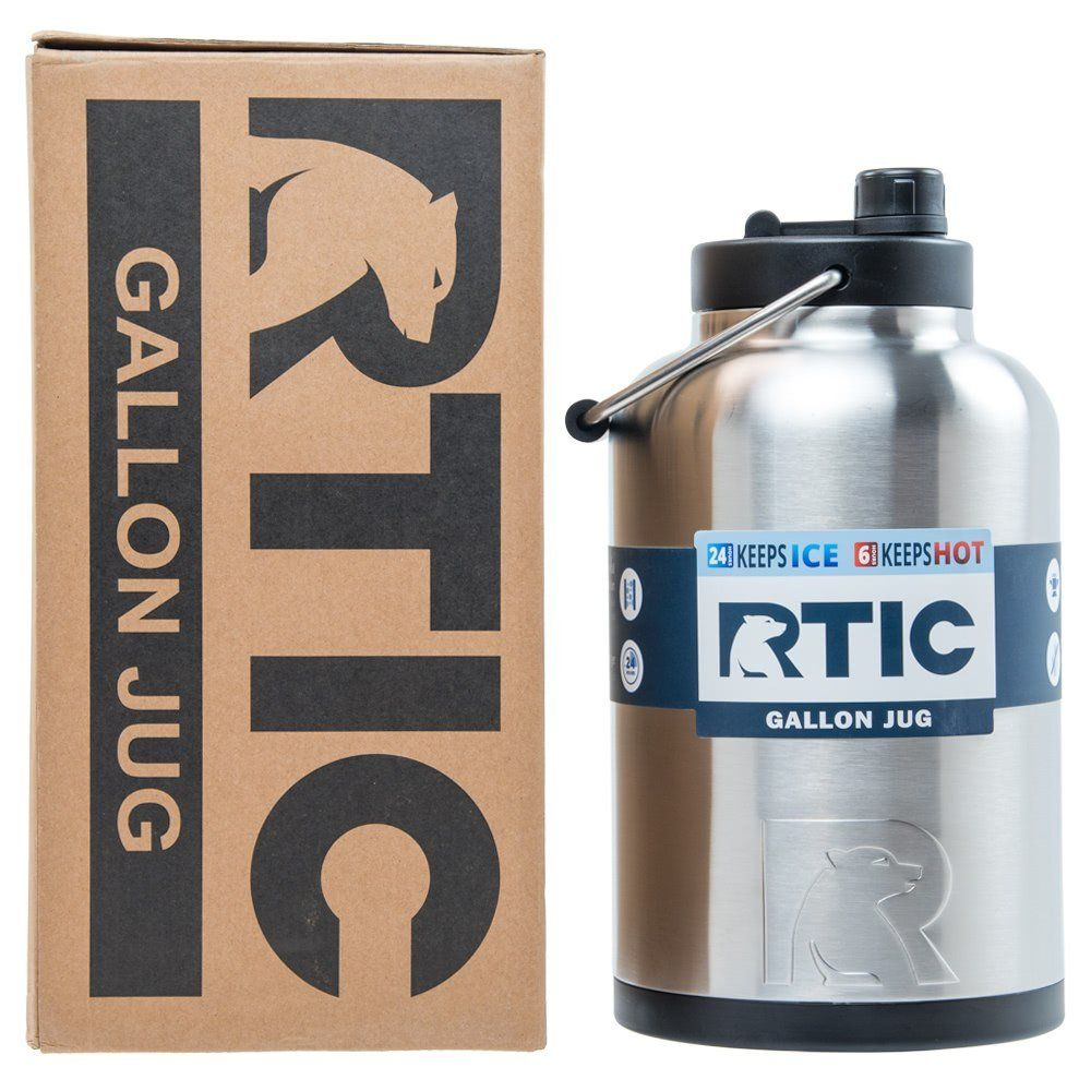 Rtic Double Wall Vacuum Insulated Stainless Steel Jug Stainless Steel One Gallon Want Additional Info Click Water Jug Gallon Water Jug Gallon Water Bottle