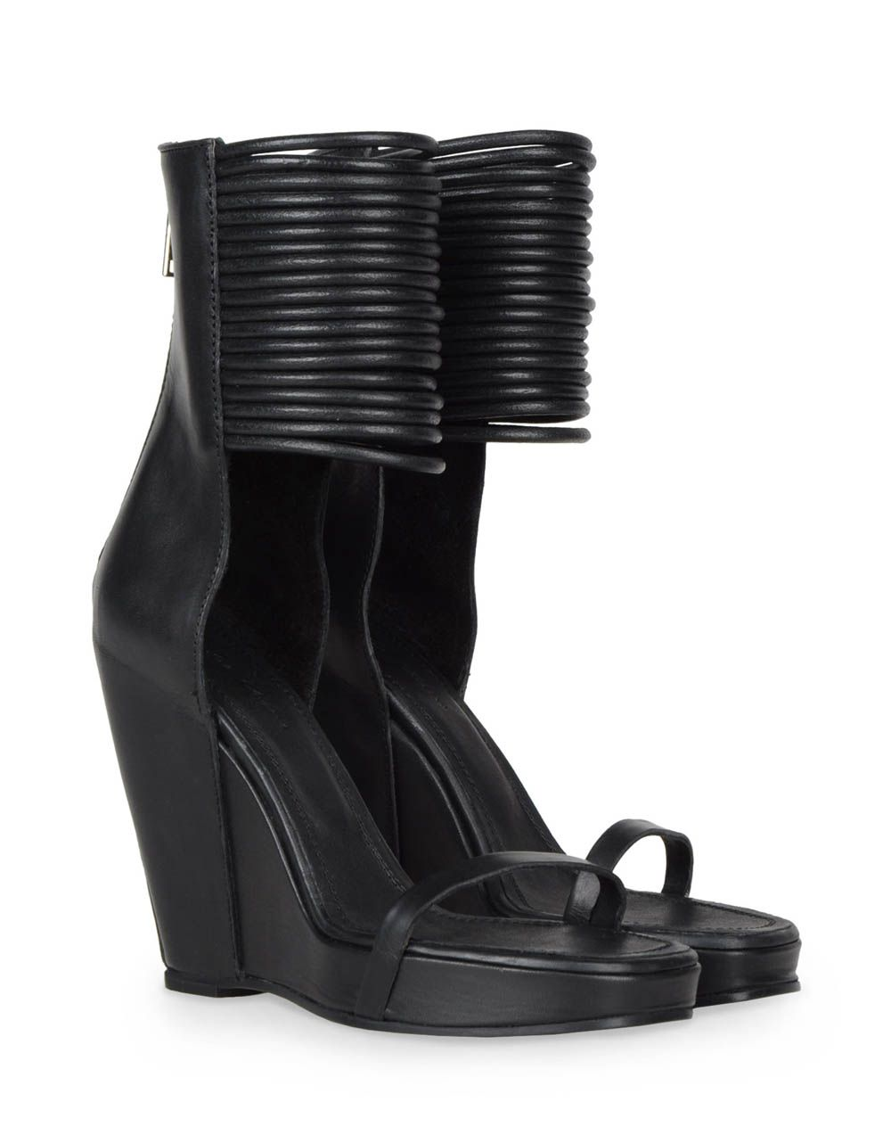 Leather SLIVER Wedges boots Spring/summerRick Owens QKWj1