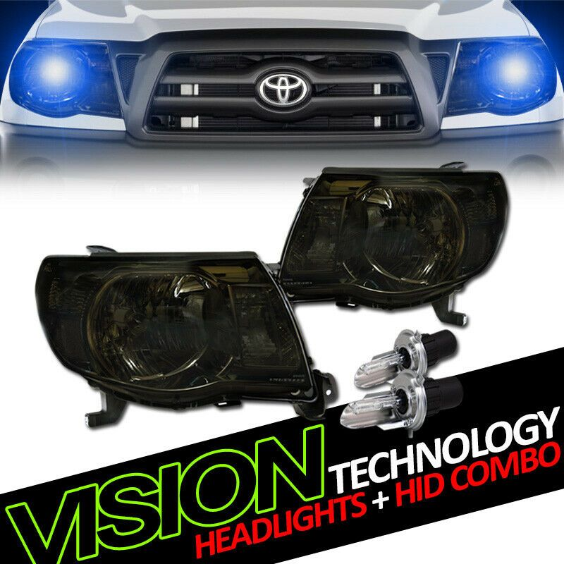 6000K Xenon HID+Smoked 97-03 Ford F150 Expedition LED Halo Projector Headlights