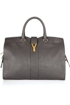 d67536a83039 Yves Saint Laurent - Large Cabas Chyc leather tote  love the shade of grey  leather