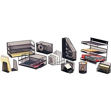 Staples® Black Wire Mesh Desk Collection | For Me | Pinterest | Wire ...