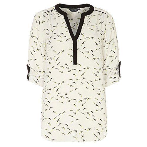 (ドロシー パーキンス) Dorothy Perkins レディース トップス カジュアルシャツ Dorothy Perkins Tall Contrast Bird Rollsleeve Shirt 並行輸入品  新品【取り寄せ商品のため、お届けまでに2週間前後かかります。】 表示サイズ表はすべて【参考サイズ】です。ご不明点はお問合せ下さい。 カラー:Ivory