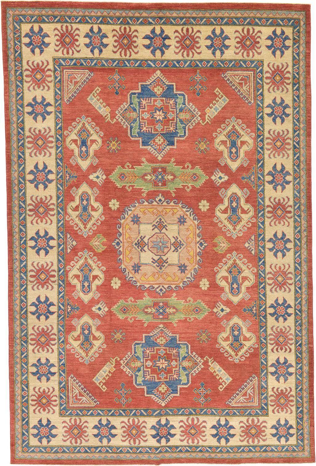 Rust Red 7 11 X 12 0 Geometric Kazak Rug Oriental Rugs Rugs Oriental Rug Oriental