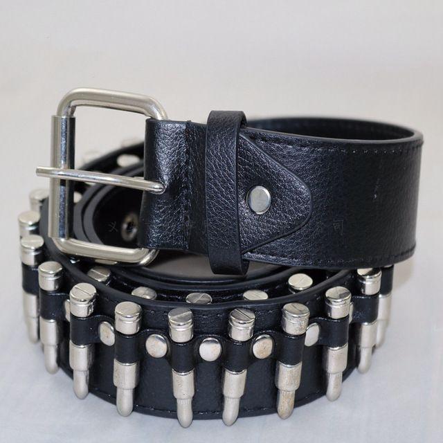 Punk Rock Silver Bullet Belt