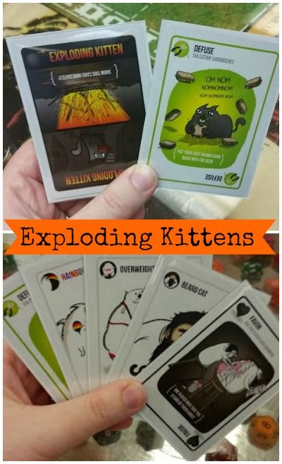 Exploding Kittens Exploding Kittens Exploding Kittens Card Game Geeky Games
