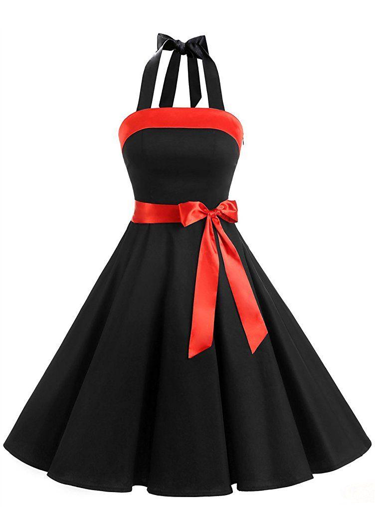 Shoppen Sie Timormode Damen 1950er Vintage Abendkleid Elegant ...