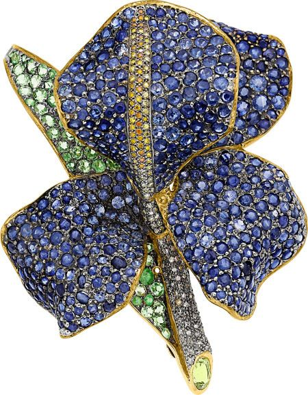 Estate Jewelry:Brooches - Pins, Diamond, Colored Diamond, Sapphire, Tsavorite Garnet, Gold... Image #1