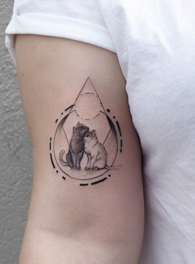 Geometric And Abstract Tattoos With A Splash Of Watercolor By