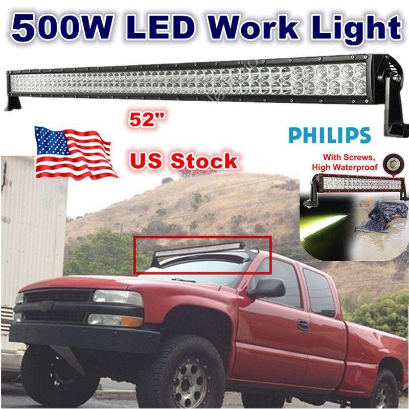 52INCH 500W LED WORK LIGHT BAR SPOT U0026 FLOOD COMBO BEAM 4WD ATV SUV OFFROAD  300W In EBay Motors, Parts U0026 Accessories, Car U0026 Truck Parts | EBay