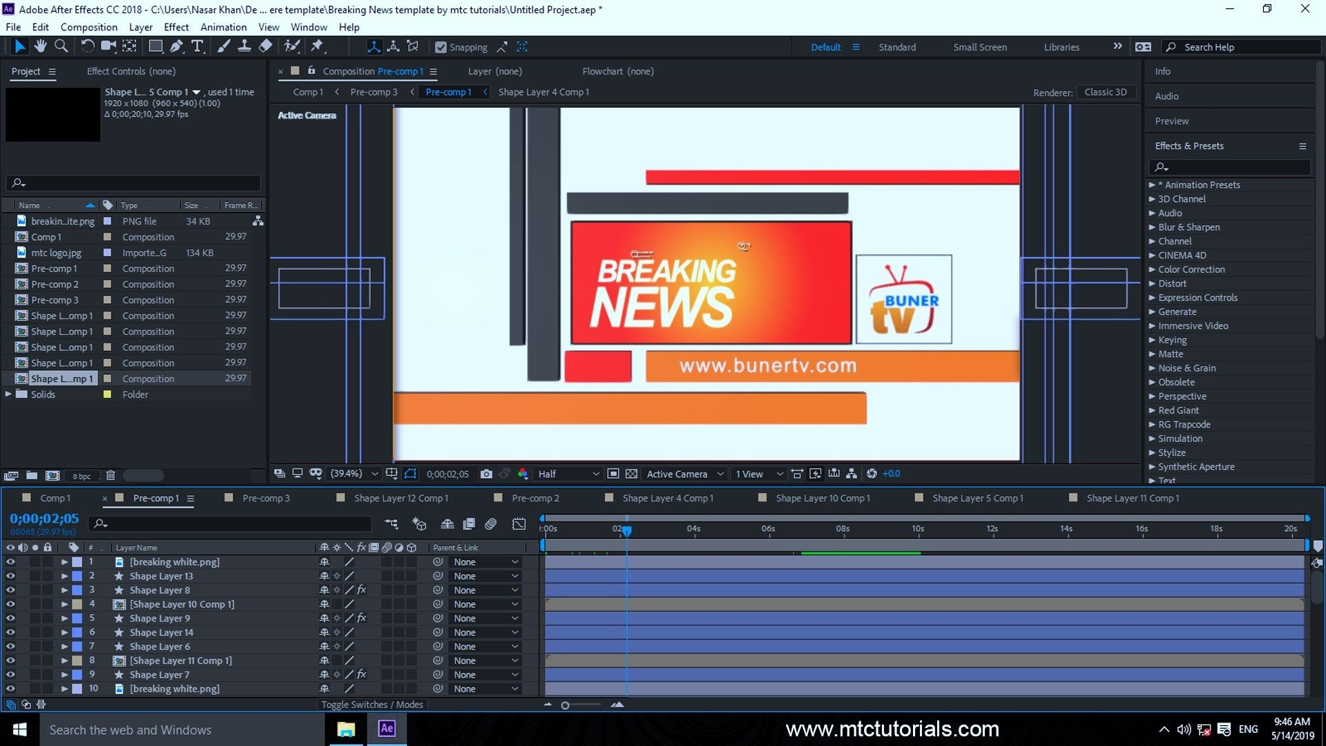 Download Breaking News Adobe After Effects Template (Có