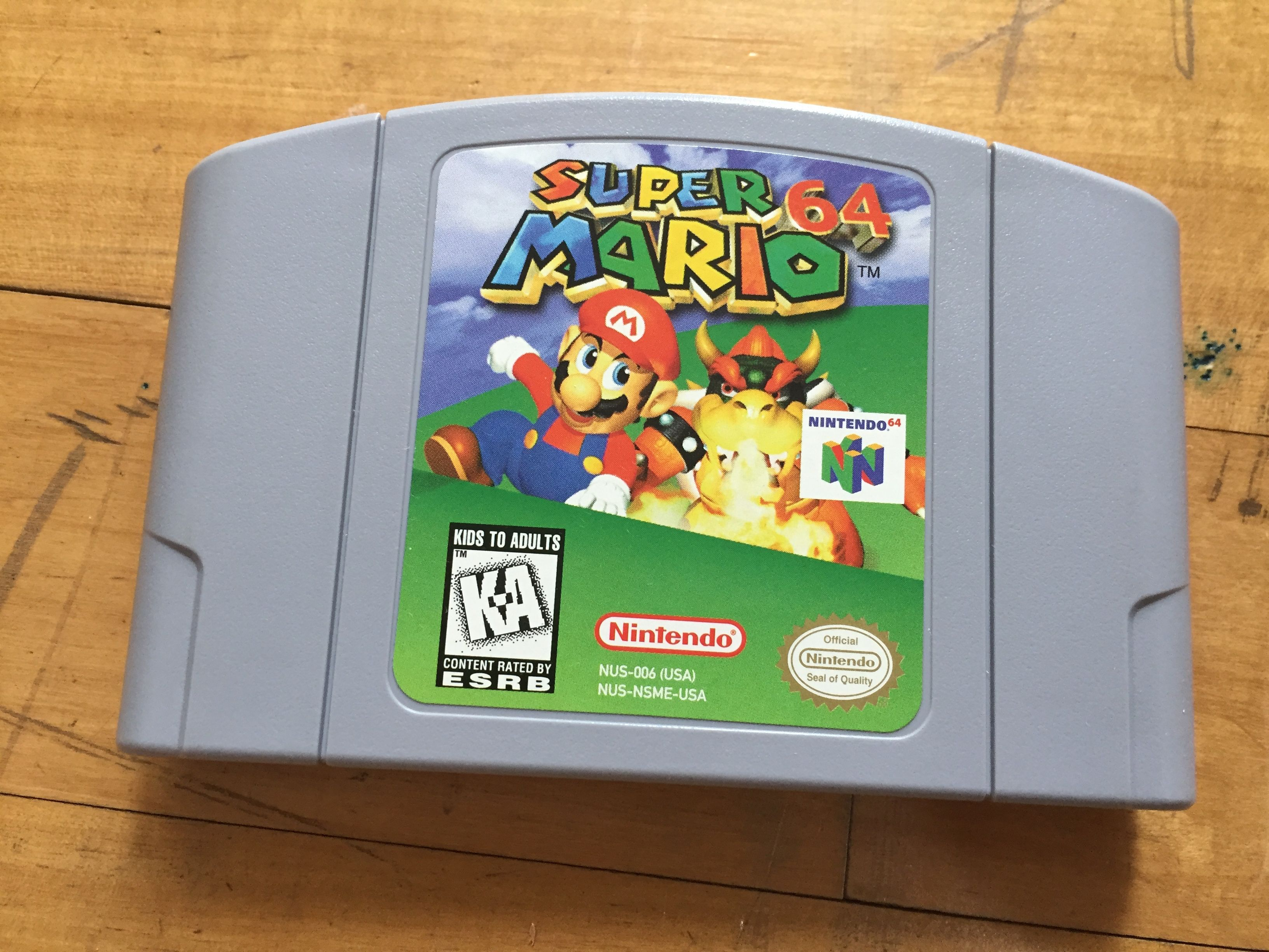 Super Mario 64 Game Cartridge Super Mario Nintendo Nintendo Super Mario