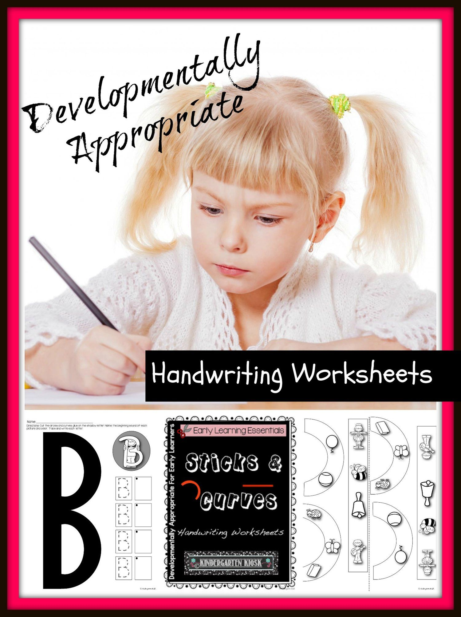 Uppercase Handwriting Worksheets Sticks And Curves