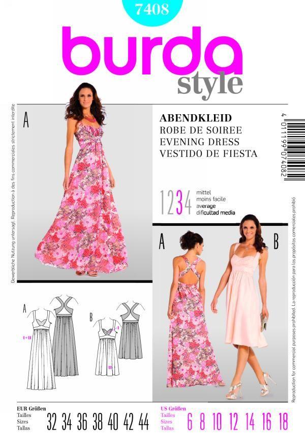 Burda 7408 | My Patterns | Pinterest