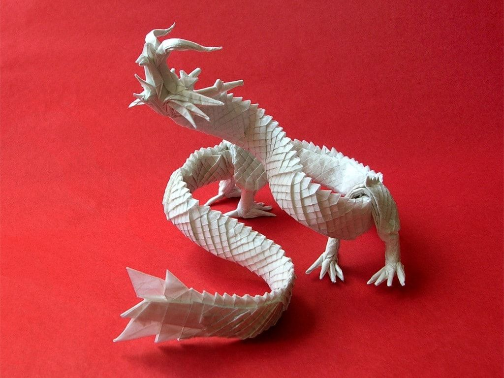 18 Incredible Eastern Style Origami Dragons Origami Pinterest