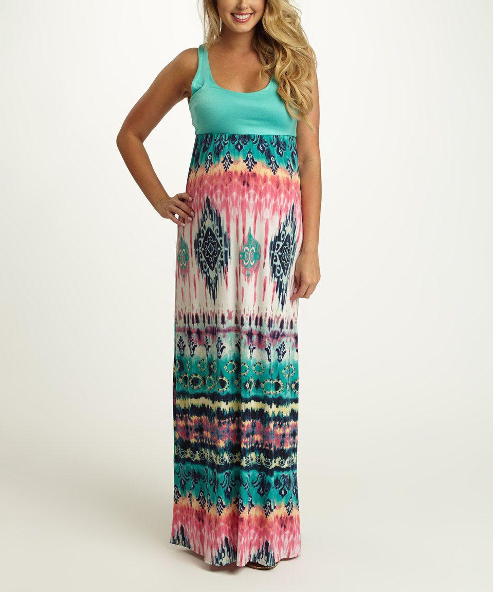 694e621ca4299 PinkBlush Jade Ikat Maternity Maxi Dress by PinkBlush Maternity #zulily  #zulilyfinds