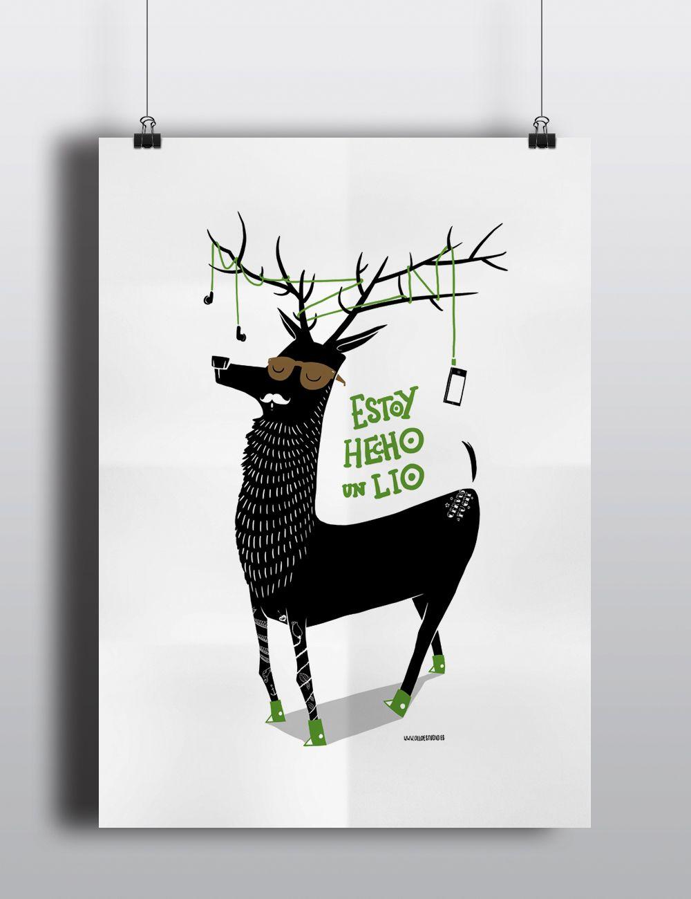 #poster #ilustración #lío #bambas