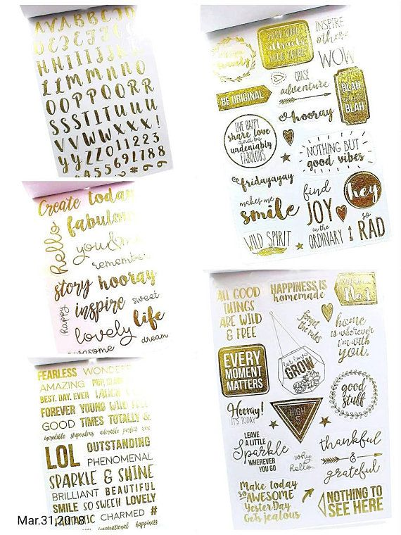 Cute Sentiment Calligraphy Stickers for Planning Scrapbooking Cardmaking Crafts