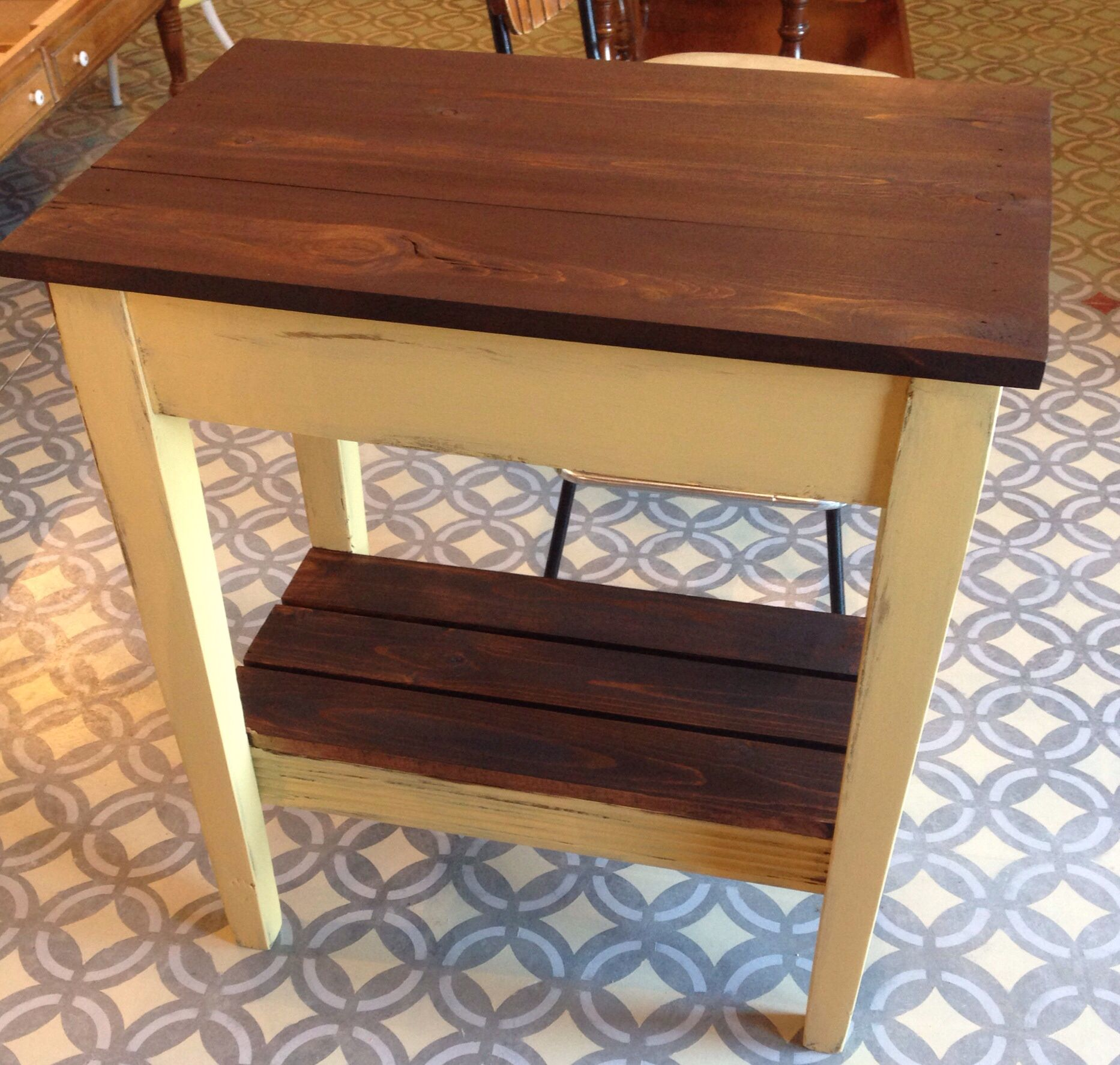 Coffee Table Ottoman General Finishes Milk Paint, Somerset Gold &