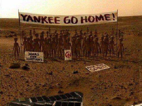 Mientras tanto en el planeta Marte