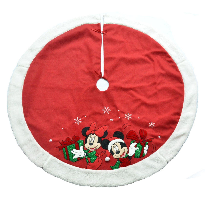 "New DISNEY 48/"" Mickey Mouse /& Pluto Christmas Tree Skirt"
