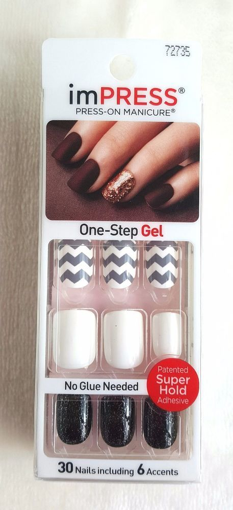 KISS imPRESS Press-On Manicure FIRST LOVE 30 Nails includes 6 ...
