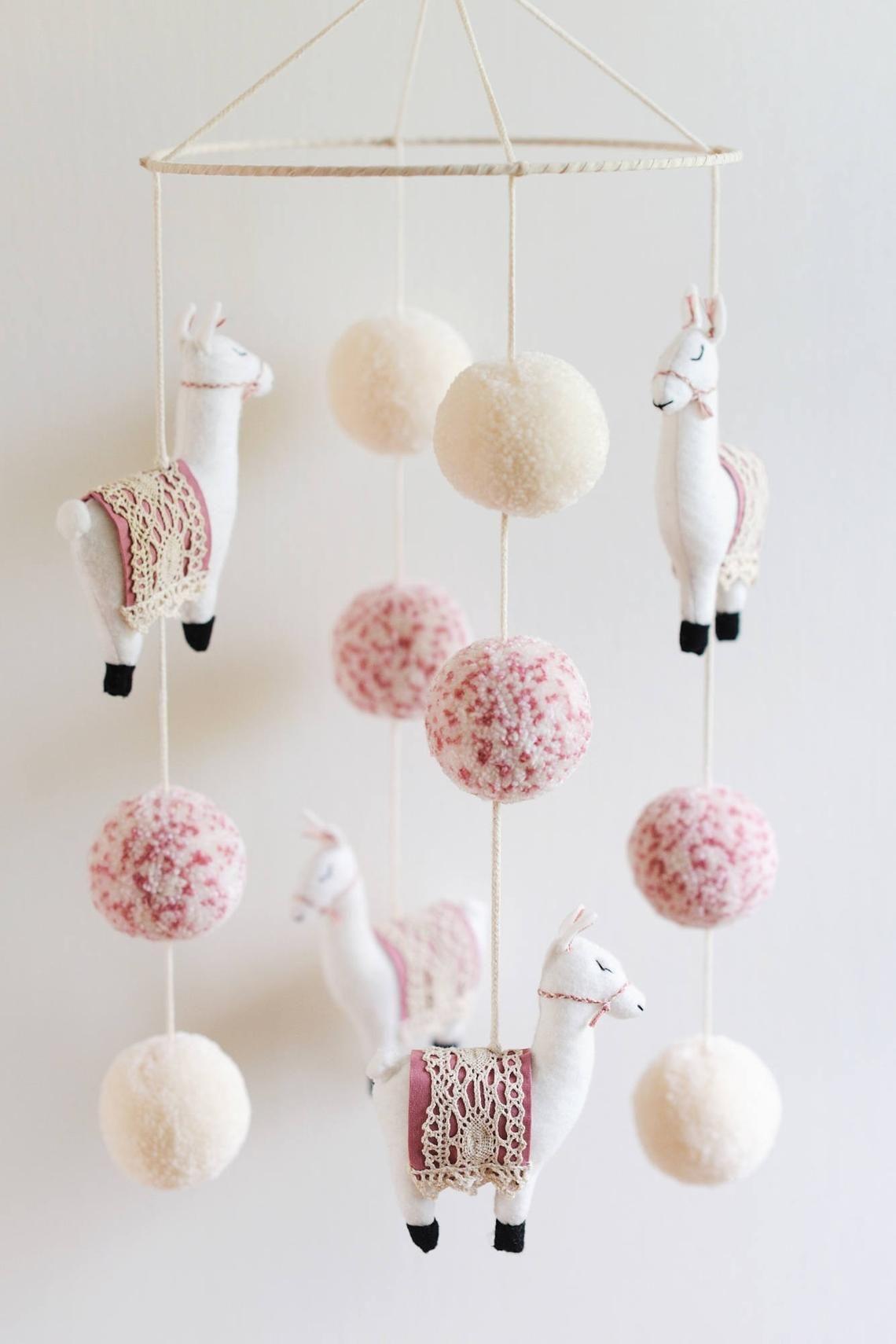 Llama Nursery Mobile, Llama Mobile, Llama, Llama Nursery, Boho