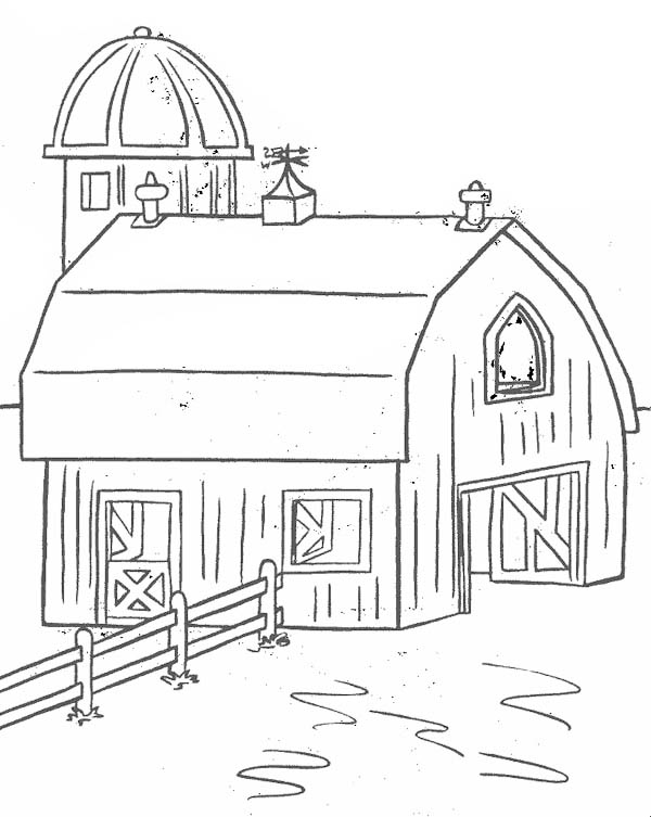 Barn For Keeping Farm Products Coloring Page Coloring Sky Farm Coloring Pages Tractor Coloring Pages Coloring Pages