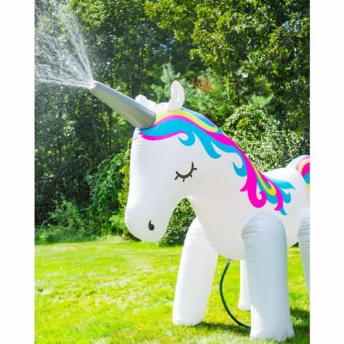 Giant Unicorn Yard Sprinkler With Images Outdoor Fun