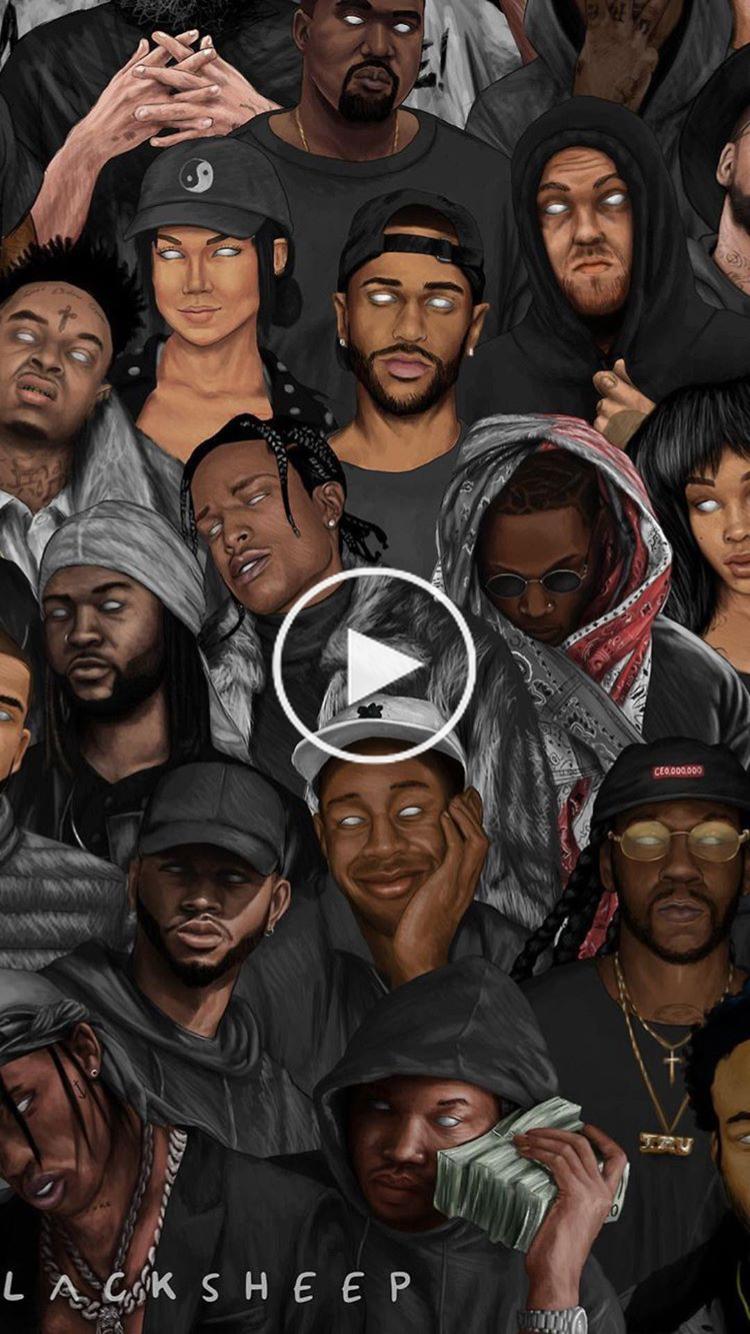 Follow Trvpprncess1 For More Rorrin Pins Hip Hop Art Rapper Art Black Love Art