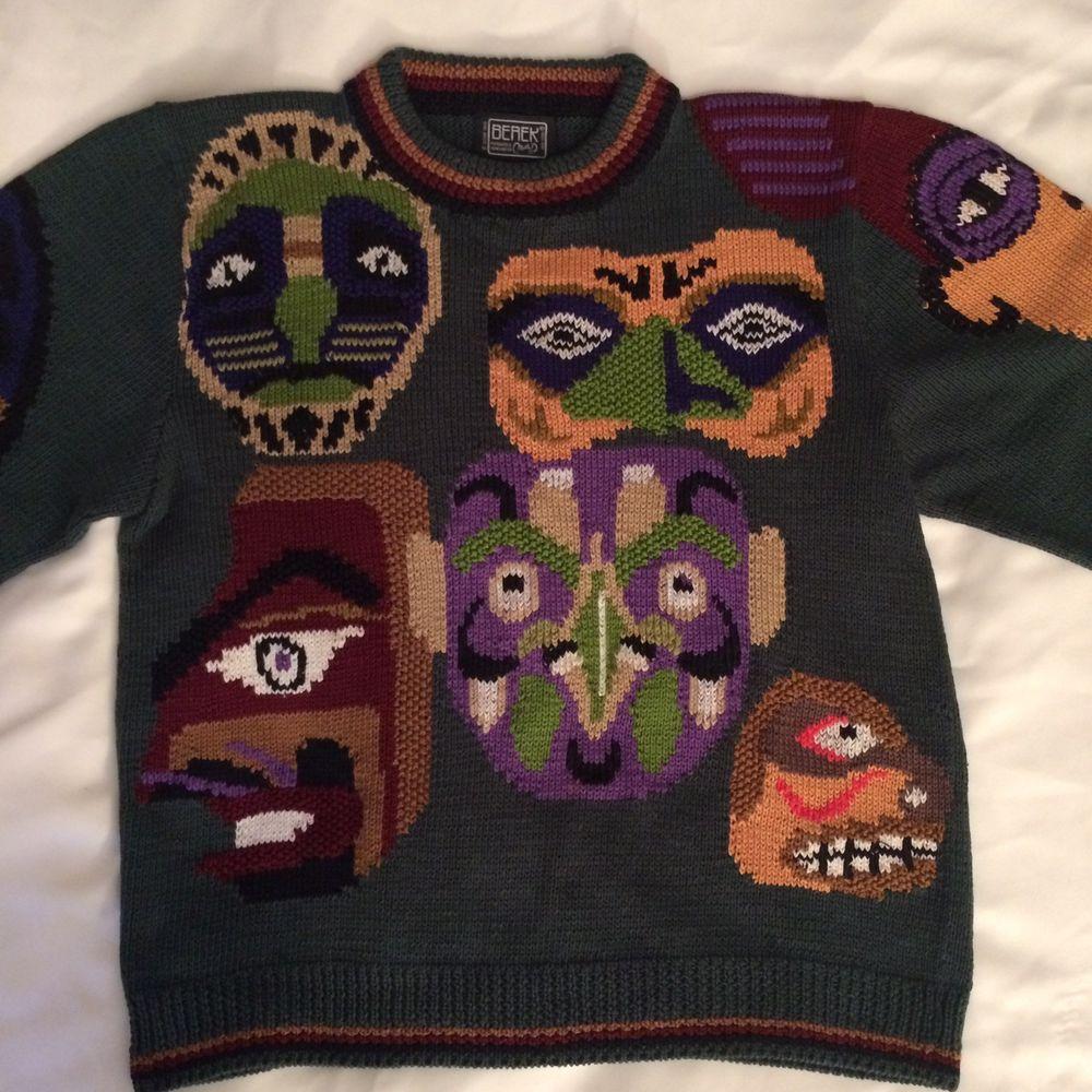 25c6a66dba963 Rare Vintage 1989 Berek Sweater Hand Knit Marta D
