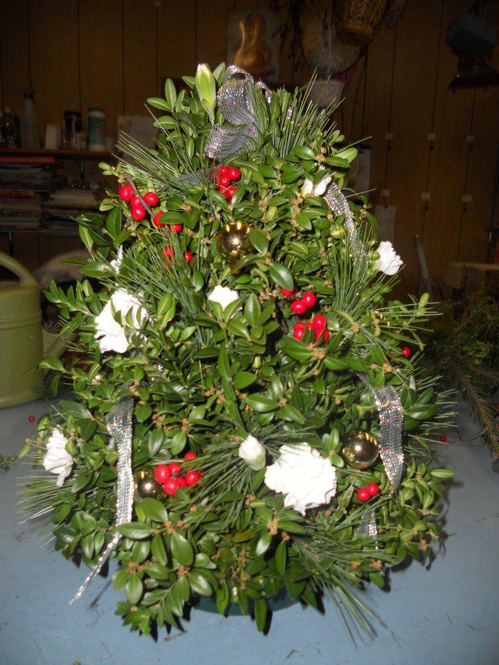 Fresh table Christmas tree