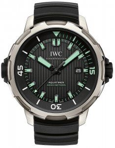 099dd997c629 IWC Aquatimer Automatic 2000 Titanium Mens Black Dial 46mm IW358002 Replica  Watch On Sale