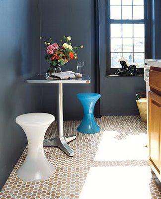 Cork Penny Tile Floor